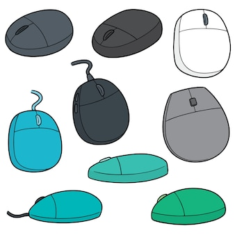 Vector set of computer mouses
