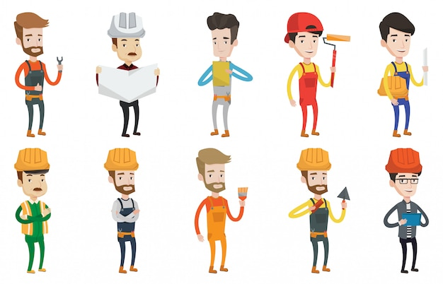Vector set of constructors and builders characters