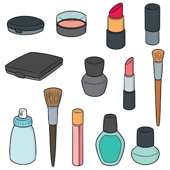 Vector set of cosmetic