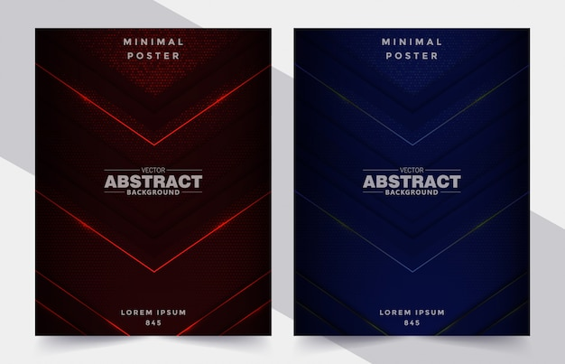Vector set of cover design template with abstract background
