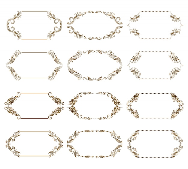 Vector set of decorative ornate frames