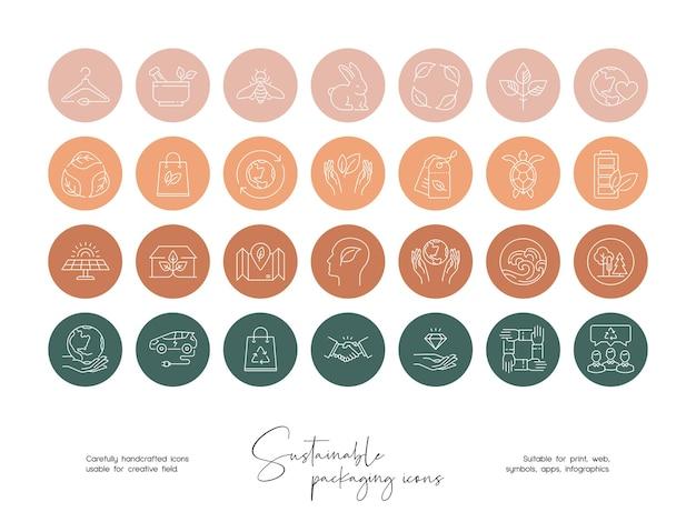 Векторный набор шаблонов дизайна иконок и эмблем в социальных сетях.