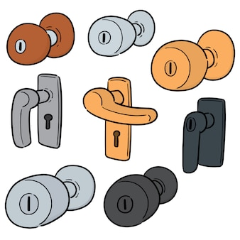 Vector set of door knob