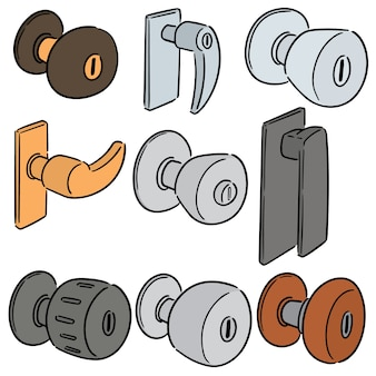 Vector set of door knob