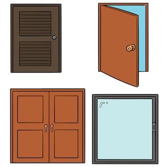 Vector set of door