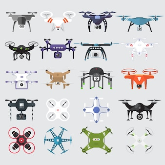 Vector set of drones technology