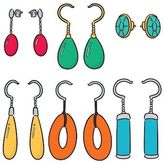 Vector set of earrings