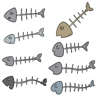 Vector set of fishbone