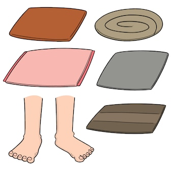 Vector set of foot wipe