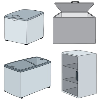 Vector set of freezer