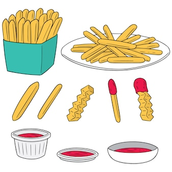 Vector set of frenchfries