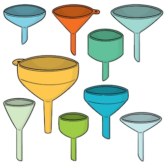 Vector set of funnels