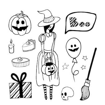 Vector set of halloween clipart