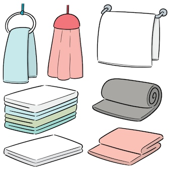Vector set of hand towel