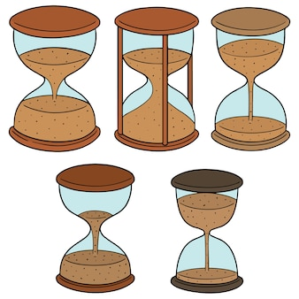 Vector set of hourglass