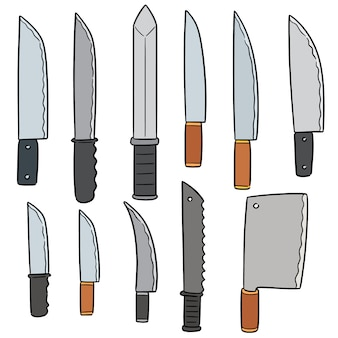 Vector set of knives