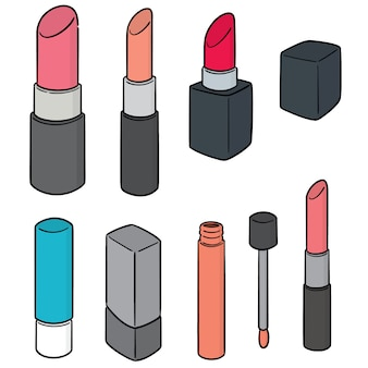 Vector set of lipsticks