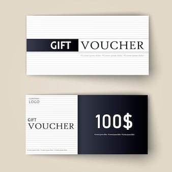 Vector set of luxury gift vouchers.