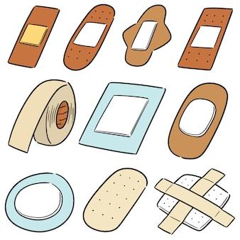 Vector set of medical plaster