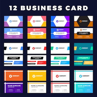 Vector set of modern creative business cards.
