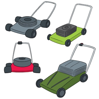 Vector  set of mower