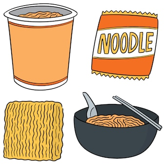 Vector set of noodle