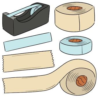 Векторный набор клейкой ленты