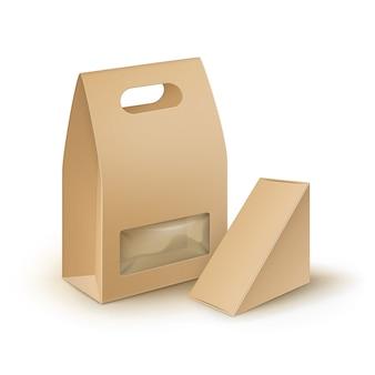 Векторный набор коричневый пустой картон прямоугольник