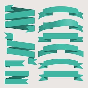 Векторный набор деловых лент винтажном стиле для дизайна