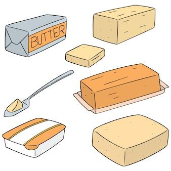 버터의 벡터 세트