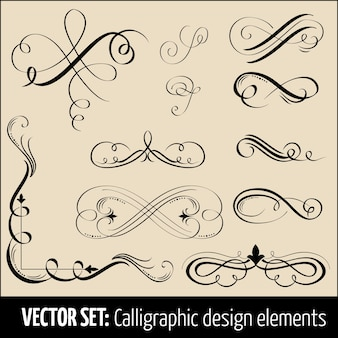 Vector Set Of Calligraphic And Page Decoration Design Elements Elegant For Your
