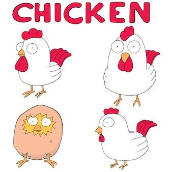 チキンのベクトルセット