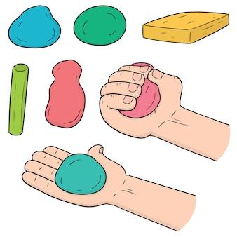 子供のための粘土のベクトルセット