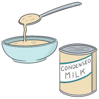 Векторный набор сгущенного молока