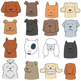 犬のベクトルセット