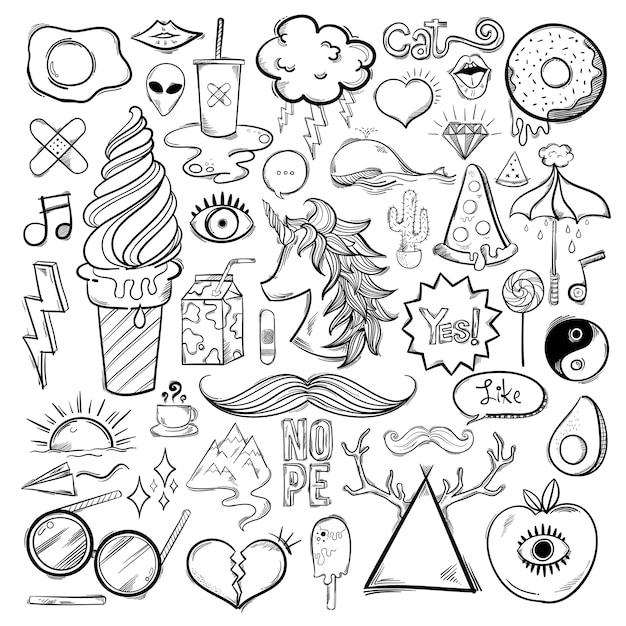Векторный набор женских иконок