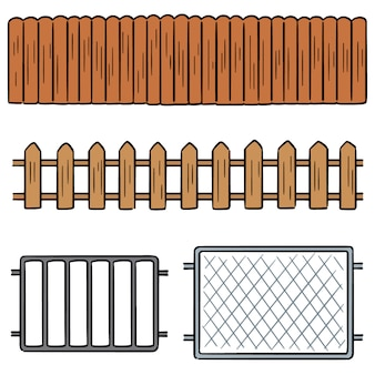 Векторный набор забор