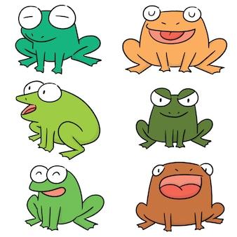 Векторный набор лягушек