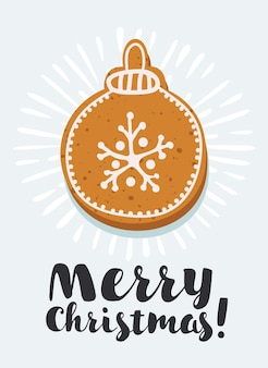 진저브레드 쿠키의 벡터 세트:집, 진저브레드 맨, 별, 눈송이, 크리스마스 장식품, 양말, 벙어리장갑, 사탕수수, 크리스마스 트리. 홈메이드 홀리데이 쿠키 컬렉션입니다. 새해 빵집.
