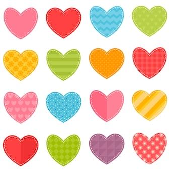 Векторный набор сердец