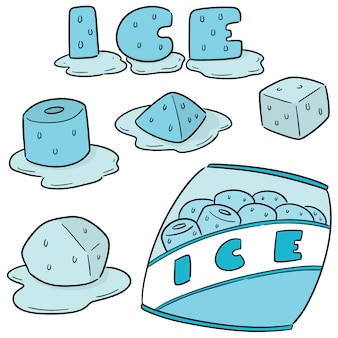 얼음의 벡터 세트