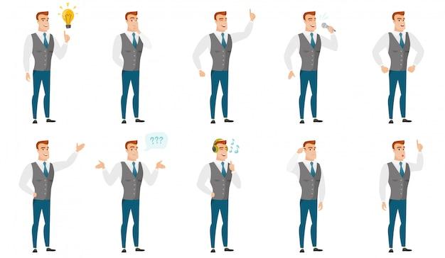 사업 사람들과 삽화의 벡터 집합입니다.