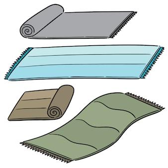 Vector set of mat