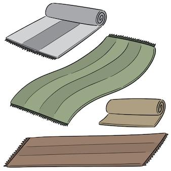 Векторный набор коврик