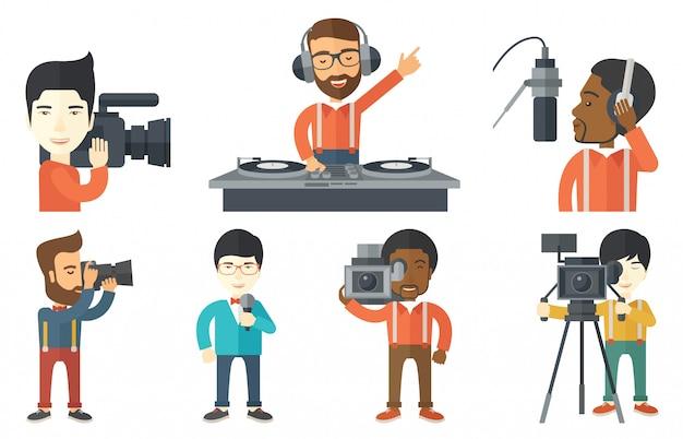 メディアの人々のキャラクターのベクトルを設定します。