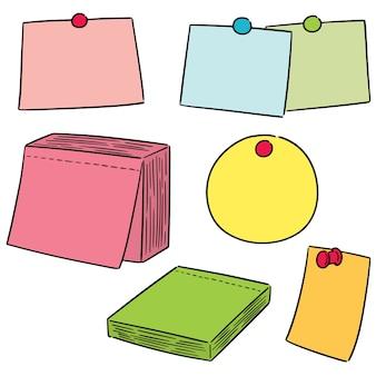 Векторный набор заметок