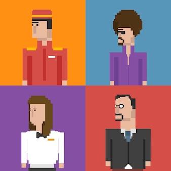 Векторный набор мужчин и профессий