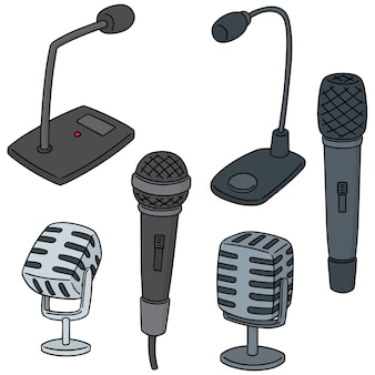 Vector set of microphone
