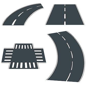 Векторный набор дорог