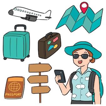 旅行者のベクトルを設定